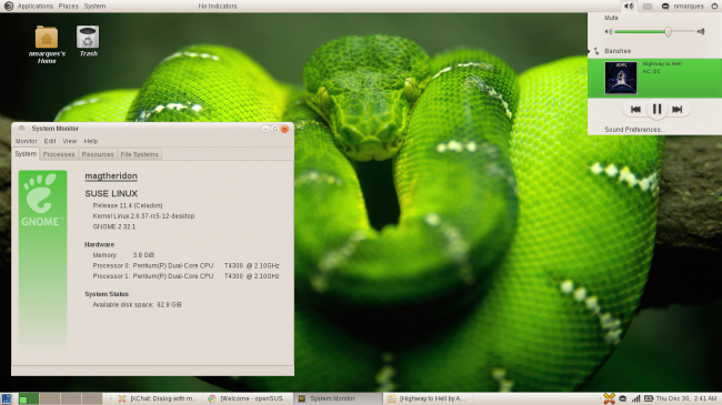 openSUSE Factory 11.4 M5.