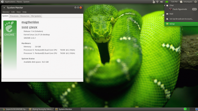 openSUSE Factory 11.4 M6.